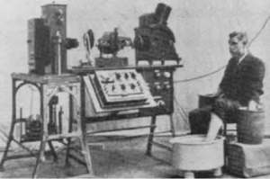 Early commercial ECG machine and electrodes